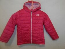 The Northface Reversable Hooded Jacket/Coat Pink Sz Toddler 4T/ 4B