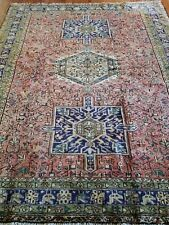 5.2 x 6.4 Gharajeh Veg Dye Persian Heriz Rug Serapi Tribal Persian Rug