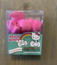 NEW SANRIO Hello Kitty Fortune Cookies Pink Bath Bombs Marshmallow Scented Pack
