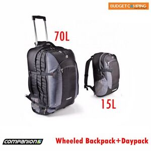 Companion Wheeled Trolley Backpack 70L with 15L Daypack