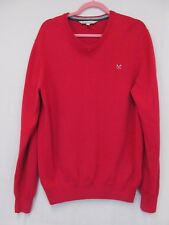 Crew clothing mens cotton and cashmere V neck jumper size L