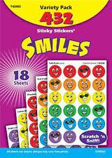 SORRISI 432 gratta e sniffa Stinky Adesivi Ricompensa Varietà di tendenza Pack