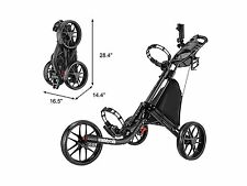 Dark Grey CaddyTek CaddyLite EZ-Fold 3 Wheel Golf Push Cart