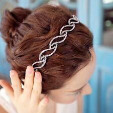 Women Fashion Leaf Headband Crystal Rhinestone Jewelry Hair Hoop