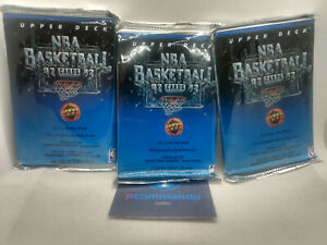 1992-93 Upper Deck Basketball Low Series NBA Cards Packs 3 x Sealed Packets