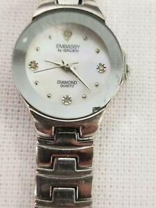 Gruen Embassy Diamond Women's Silver Tone Quartz Watch Gem2402L-187 Fashion