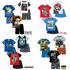 Boys Pyjamas Short Sleeve T-Shirt Shorts Set New Official Age 2-12 Years 2017