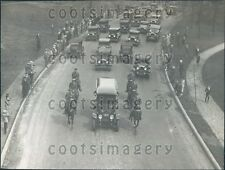 1929 Vintage Auto Funeral Procession Ohio Governor Myron Herrick Press Photo