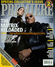 Premiere 5/03,Carrie-Anne Moss,Laurence Fishburne,Matrix,COVER 2,May 2003