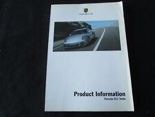2007 2008 Porsche 911 Turbo DEALER ONLY Product Info Catalog 997 Book Brochure