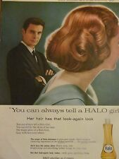 Louis Jourdan, Halo Shampoo, Full Page Vintage Print Ad