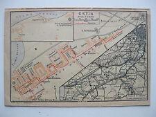 stampa antica MAPPA ROMA SUD MAGLIANA OSTIA FIUMICINO DECIMA PORTUENSE 1925