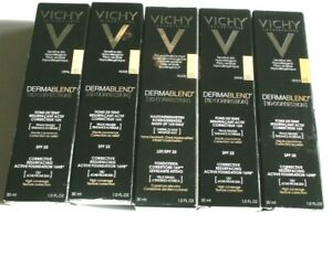 VICHY DERMABLEND 3D CORRECTION ACTIVE FOUNDATION 16hr SPF25 30ml various shades