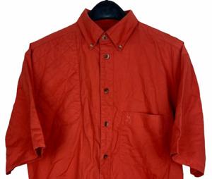 Browning Men's Medium Hunting Shooting Vented Shirt Red Short Sleeve *spot