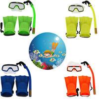 1Set Kinder Schnorchelmaske Schnorchelset Taucherbrille Tauchermaske Knöchel g/s