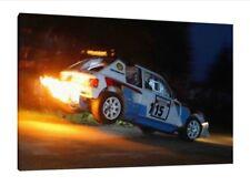 PEUGEOT 205 T16 - 30x20 pollici Canvas-Stampa Foto Incorniciata Gruppo B Rally ART