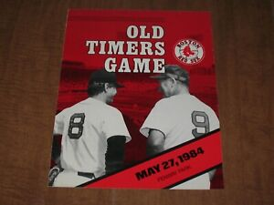 Boston Red Sox Old Timers Game Official Program May 27, 1984 ~Ted Williams!!