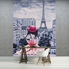 VLIES Fototapeten Fototapete Tapete Foto Mädchen Paris Eiffelturm 3FX11508VEA