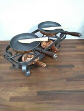 Copper Fondue Raclette Pans on Stand Food Warmer - DIS