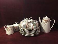 Vintage Art Deco Tea Set For 7  Gold On White Renaissance