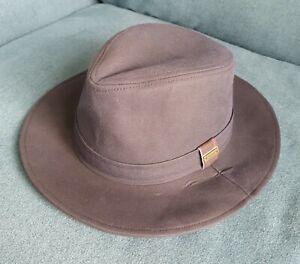 Barbour Vintage Navy Wax Bushman Hat - Size S