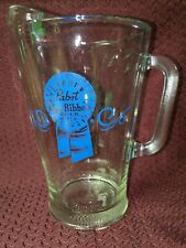 Vintage .Papst Blue Ribbon Pitcher 1960s.