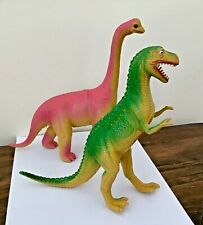 Vtg Imperial 1985 Tyrannosaurus Rex and Brontosaurus Dinosaurs