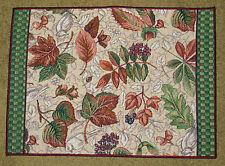 October Weekend ~ Autumn Leaves Acorns Fall Foliage Tapestry Placemat