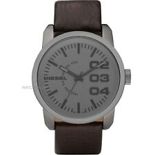 DZ1467 New Genuine DIESEL Double Down S/S Unisex Watch On Leather Strap £125