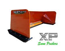 8' Xp24 Kubota Orange snow pusher box skid steer Bobcat Case - Local Pick Up