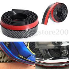 2.5M Carbon Fiber Car Lip Skirt Protector Front Bumper Spoiler Splitter Rubber