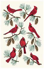 "Cardinal Kitchen Towel Pine Tree Cone Branch 16""x27"" Paine's bar dish decorative"