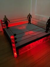 WWE MATTEL ELITE AUTHENTIC SCALE LIGHT UP WRESTLING RING RAW MAIN EVENT