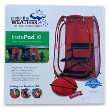 New Under The Weather InstaPod XL Pop Up Tent Red Shelter Sports Camping UPF 50