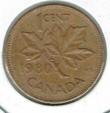1980 Canadian Circulated One Cent Elizabeth II Coin!