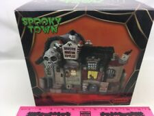 Lemax Halloween ~ Monster Hunting Supplies Lighted Village Buildin ~ Spooky Town