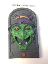 Animated Evil Witch Door Bell Doorbell Talking Motion Light Sound Halloween Prop