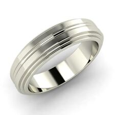 Unique Men's Anniversary Wedding Band Ring in .925 Sterling Silver Free Sizing