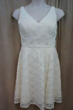 Marina Dress Sz 10 Ivory Lace Structured A-Line Fit & Flare Cocktail Party dress