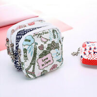 Women Girl Print Cute Sanitary Pad Organizer Holder Napkin Towel Convenience Bag