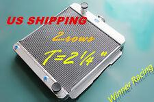 "T=2¼"" ALUMINUM RADIATOR CHEVY Delray Bel air W/OIL COOLER ENGINE V8 283/348 1958"