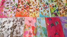 Joblot 24 pcs Butterfly & Flower design chiffon scarf wholesale 50x160 cm Lot 20