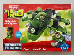 Fisher Price Trio Building Set DC Super Friends Green Lantern Rocket NEW