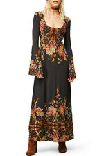 Free People Midnight Garden Maxi Black Long Dress