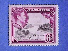 Jamaica. KGVI 1938 6d Grey & Purple. SG128. Wmk Mult Script CA. P12½. MH