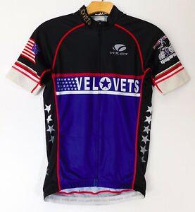 VOLER Race Raglan CYCLING JERSEY VEL VETS USA Veterans WOMEN'S SMALL