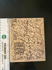 Stampin Up Rubber Stamp-Birthday Greetings