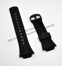 Comp. Casio DB-E30-1AV / 2AV  - 16mm Black Rubber watch band / strap