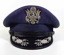 Vintage USAF Air Force Major Colonel Officer's Dress Hat & Meyer Eagle Badge