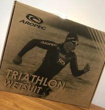 New Boxed Aropec DS-3T-509M-3/2mm Skin/ES Full Triathlon Wetsuit Size Small